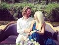 Sia and Erik her husband at a wedding