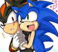 Sonadow friend - sonic-yaoi fan art