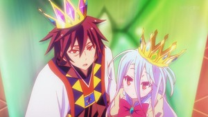 Sora and Shiro -king and Queen
