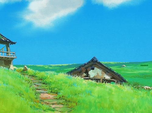 Spirited Away karatasi la kupamba ukuta with a granary titled Spirited Away