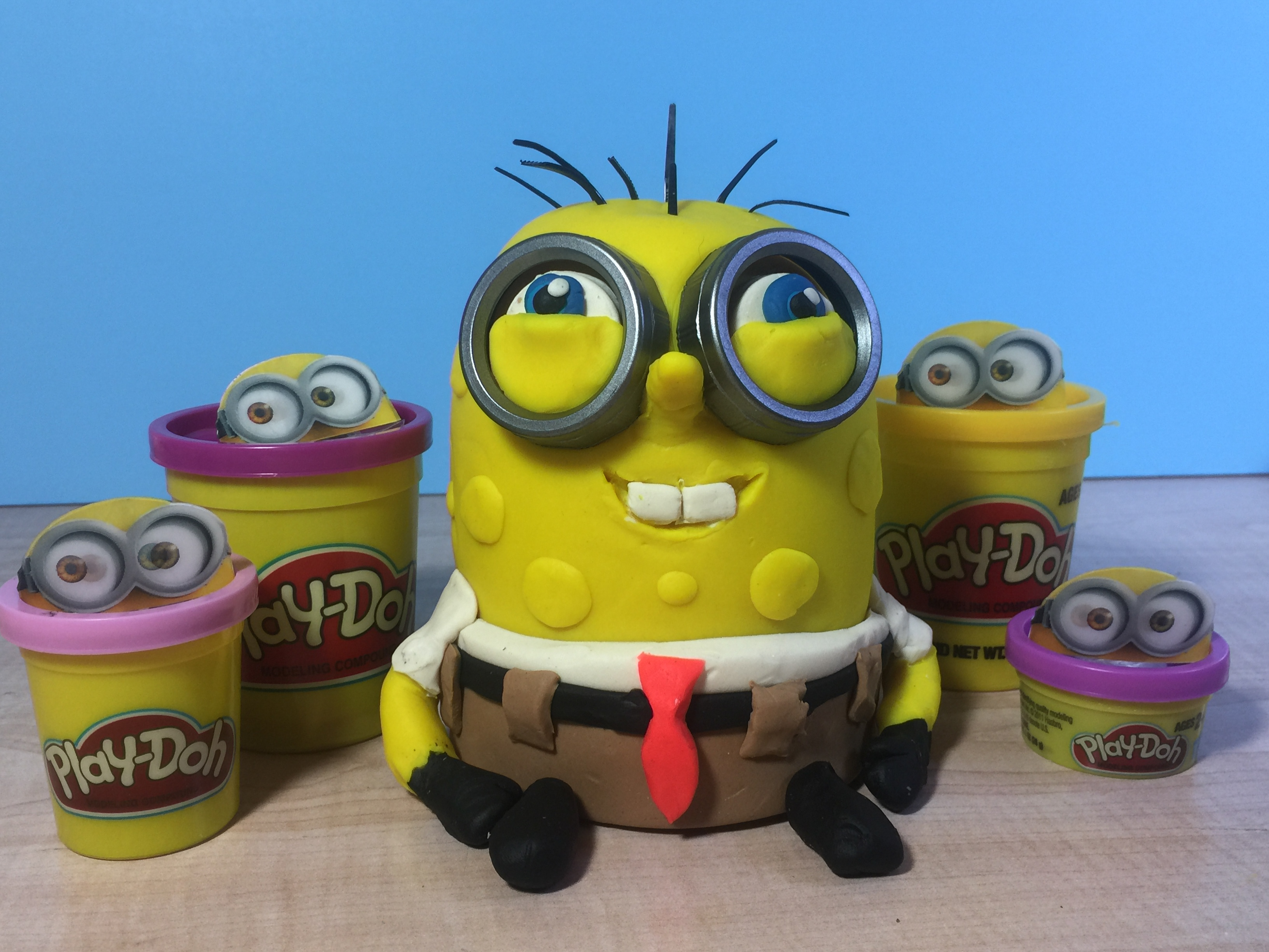 SpongeBob made with Play-Doh