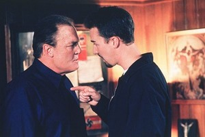 Stacy Keach as Cameron Alexander and Edward Norton as Derek Vinyard