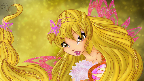 the winx club wallpaper containing anime titled Stella Butterflix
