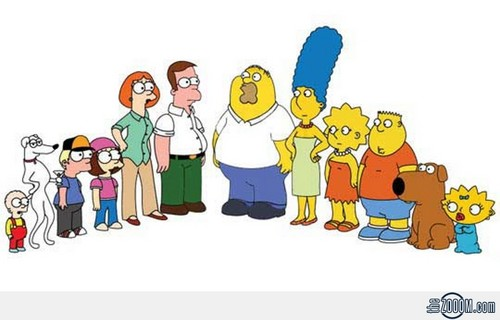 The Simpsons Vs Family Guy wallpaper with anime entitled Style Swap!