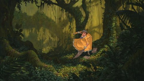 Jane Porter karatasi la kupamba ukuta with a sitka spruce titled Tarzan 1999 BDrip 1080p ENG ITA x264 MultiSub Shiv .mkv snapshot 00.34.23 2014.09.22 12.11.47