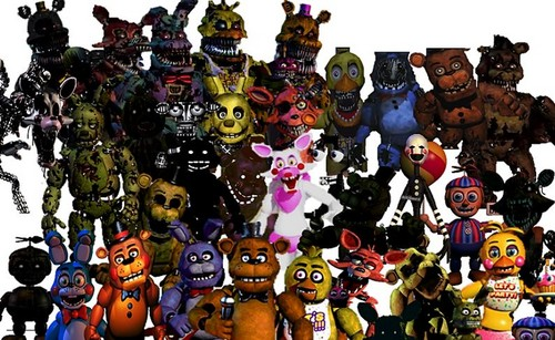 Five Nights At Freddy's hình nền entitled The Fnaf crew