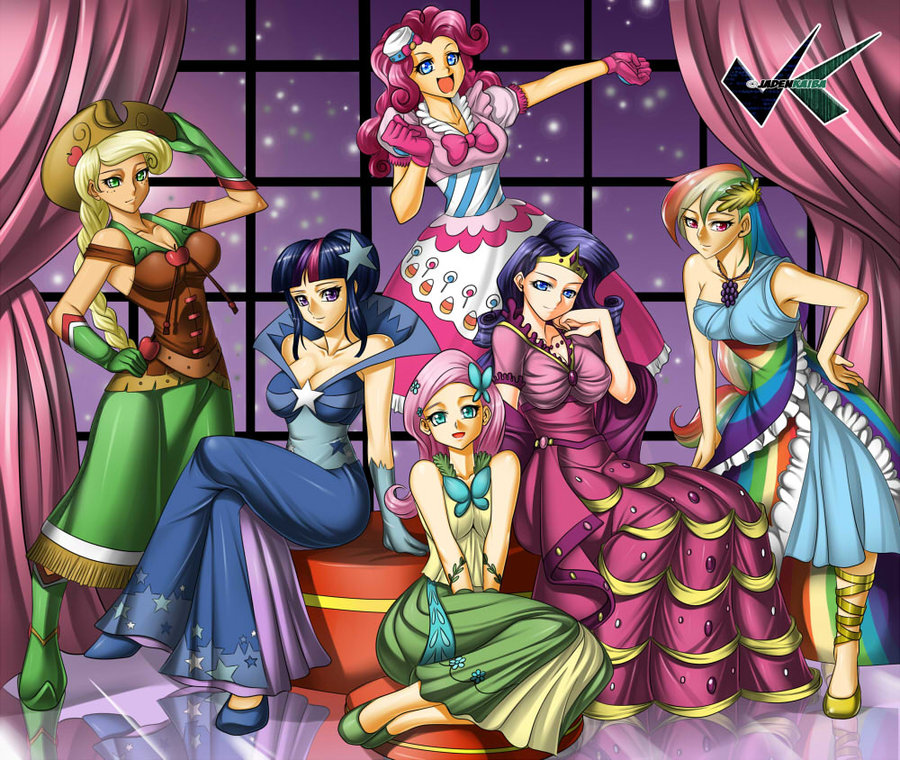 The Mane 6~ Gala Dresses~ Human Version
