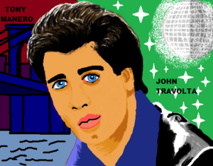 Tony Manero cartoon Saturday Night Fever