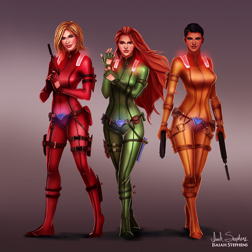 caricaturas fondo de pantalla probably containing a breastplate titled Totally Spies