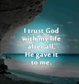 Trust God  - christianity photo