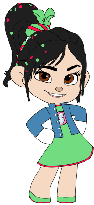 Vanellope's Outfit, Badge and Jean giacca