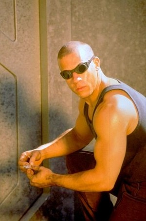 Vin Diesel as Riddick in Pitch Black