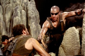 Vin Diesel as Riddick in The Chronicles of Riddick