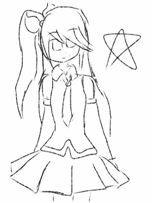 Vocaloid drawing