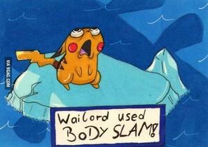 Wailord Used Body Slam