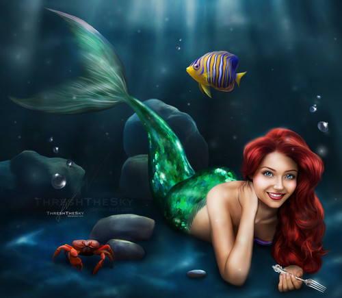 Walt Disney Characters wallpaper called Walt Disney Fan Art - Princess Ariel