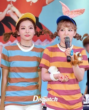 Wendy and Seulgi at the Fanmeeting