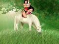 Wonder Woman rides on an Beautiful Unicorn - wonder-woman fan art