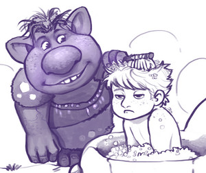 Young Kristoff and a Troll