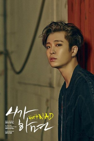 Youngjae's teaser image for ''Mad''