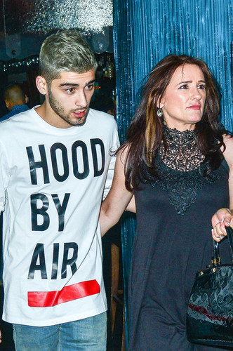 Zayn Malik wallpaper called Zayn and Tricia At Mastros Steak House