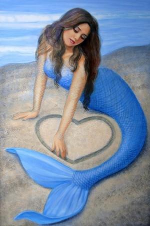 blue 《美人鱼》 心 sue halstenberg