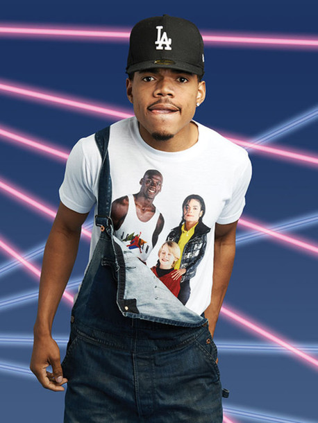 chance the rapper got his michael jordan, macaulay culkin and michael jackson শার্ট on