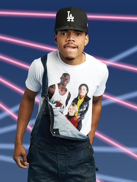 chance the rapper got his michael jordan, macaulay culkin and michael jackson 셔츠 on