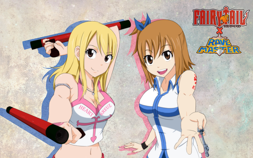 Fairy Tail wallpaper possibly containing Anime called fairytail x rave lucy and elie da dannex009 d5zrqp0