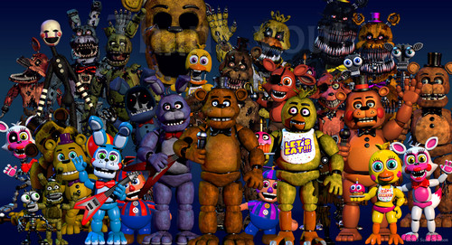 Five Nights at Freddy's kertas dinding possibly with Anime titled fnafworld.jpg