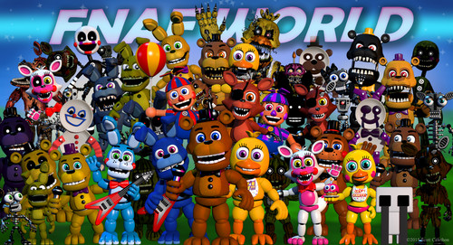 Five Nights at Freddy's پیپر وال entitled fnafworld update- Another.
