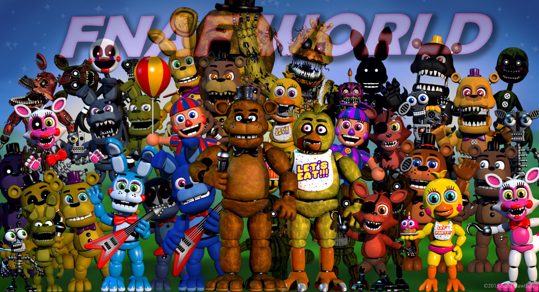 fnafworld update - ارے look a purple Freddy.