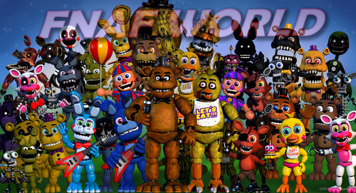 Five Nights at Freddy's achtergrond titled fnafworld update - hallo look a purple Freddy.