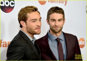 hace Crawford and Ed Westwick Goof Off at ABC's TCA Party