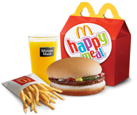 happy meal options Beef burgers