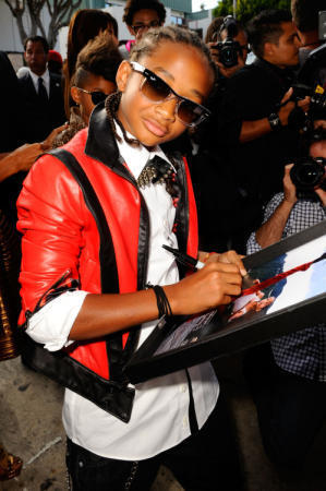 jaden smith wearing Michael jackson thriller jacke