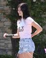 kylie jenner got her michael jackson top on  - justin-bieber photo