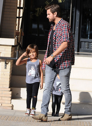 mason disick got his michael jackson shati on with his daddy scott disick