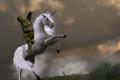 plushtrap on a unicorn