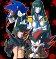 sonic the hedgehog and kill LA kill - sonic-the-hedgehog fan art