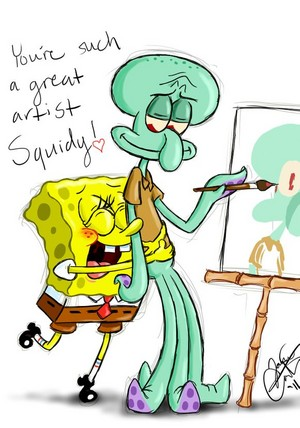 spongebob and squidward(true love)