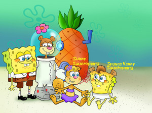 squarepants cheeks family