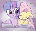 Twi and Flutty. - my-little-pony-friendship-is-magic photo