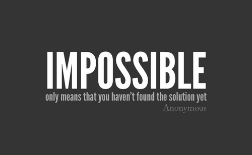 Quotes wallpaper titled                      Impossible