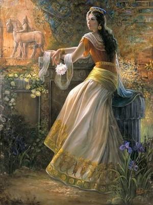 Prin-ancient famose persian lady