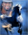 blue horse dream    - tarkan fan art