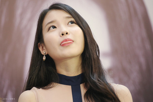 iu wallpaper possibly containing a portrait called 150912 iu at IandU in Hong Kong Press Conference