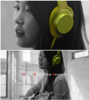 "151012 IU for Sony Korea ""h.ear"" headphone"