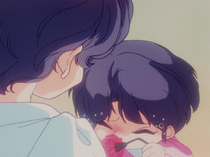 Akane Tendo as a child with her mother