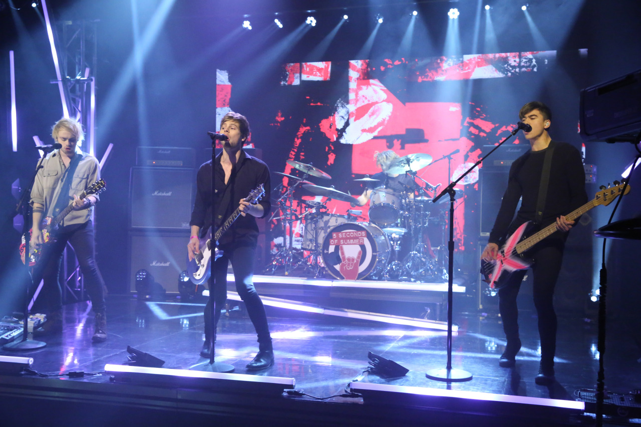 5sos on The Tonight Show